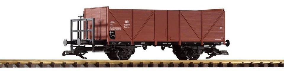 PIKO Güterwagen, Spur G, »Offener Güterwagen mit Bremserbühne, DB - Gleichstrom« in braun