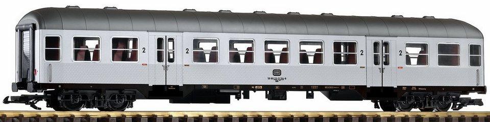 PIKO Personenwagen, Spur G, »Nahverkehrswagen Bnb 720 2. Klasse, Silberling, DB - Gleichstrom« in silberfarben