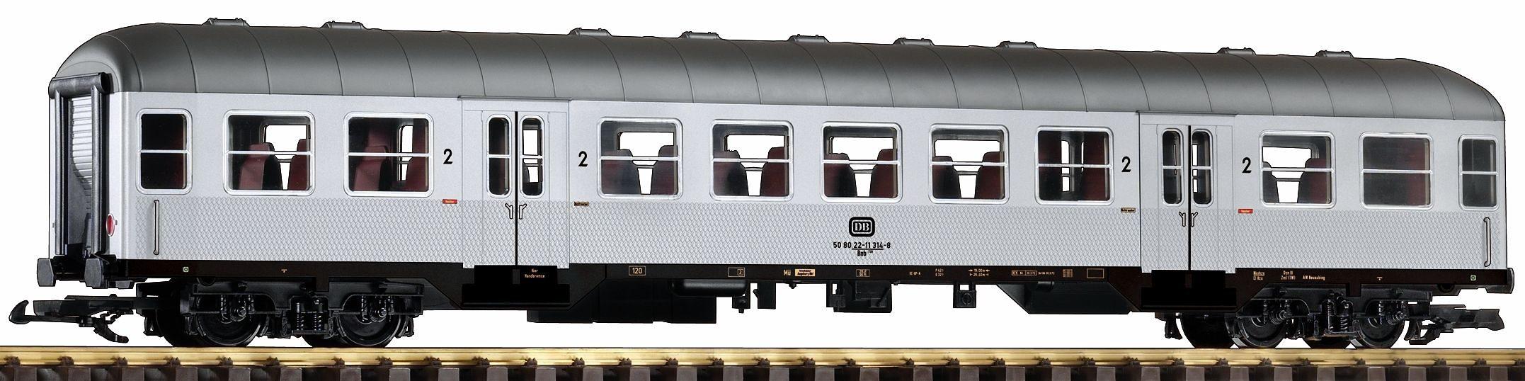 PIKO Personenwagen, Spur G, »Nahverkehrswagen Bnb 720 2. Klasse, Silberling, DB - Gleichstrom«