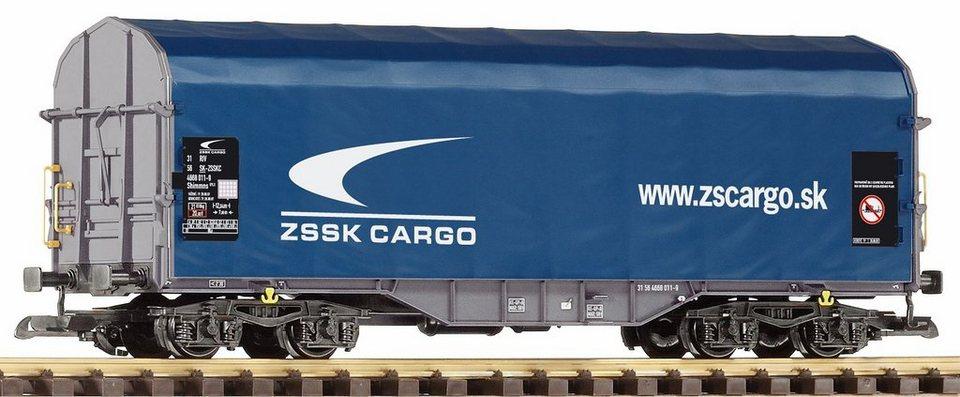 PIKO Güterwagen, Spur G, »Schiebeplanenwagen Shimmns Zssk Cargo - Gleichstrom« in blau
