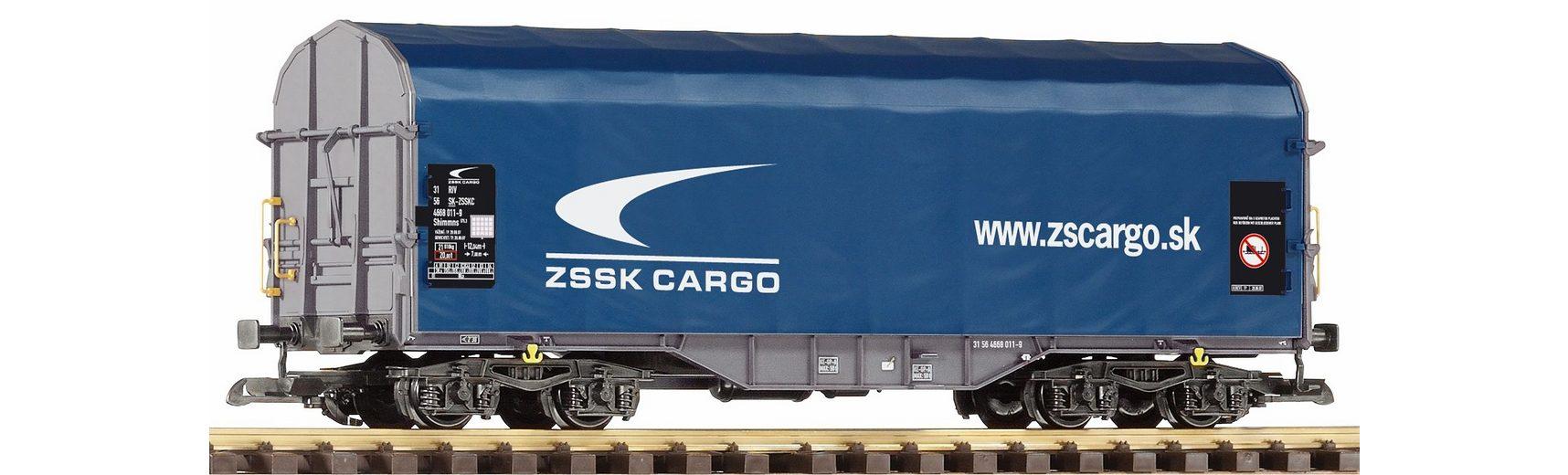 PIKO Güterwagen, Spur G, »Schiebeplanenwagen Shimmns Zssk Cargo - Gleichstrom«
