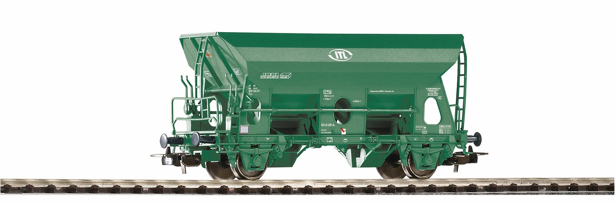 PIKO Güterwagen, Spur H0, »Selbstentladewagen Fcs ITL - Gleichstrom«