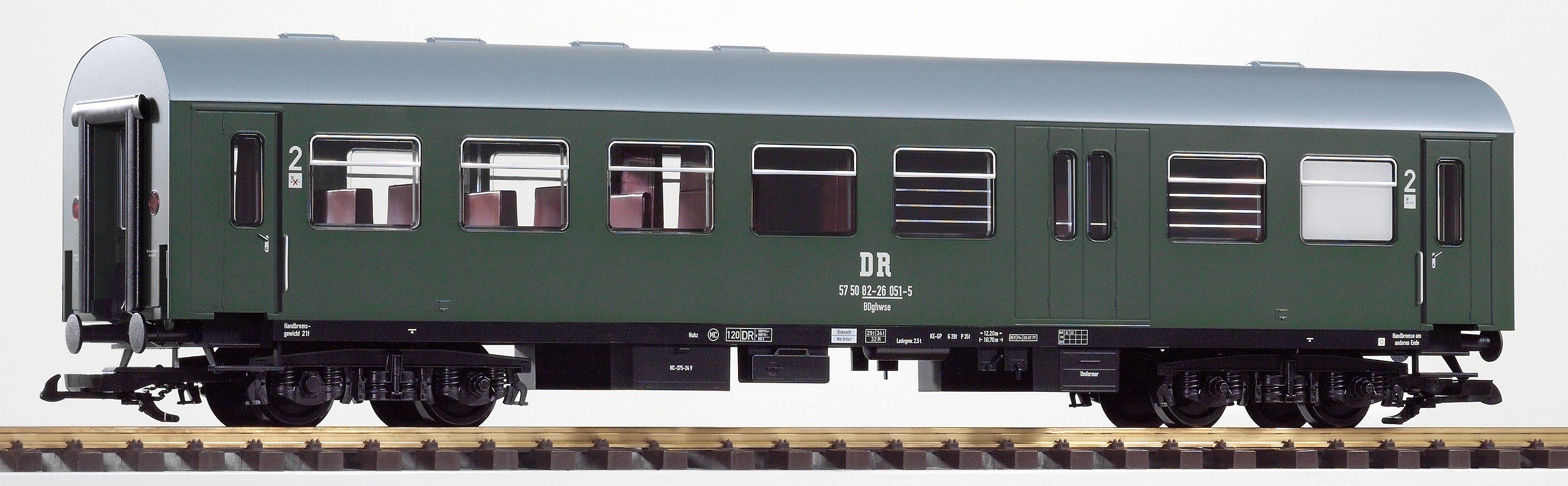 PIKO Personenwagen, Spur G, »Reko-Wagen, 2.Klasse, DR, 57 50 82-26 - Gleichstrom«