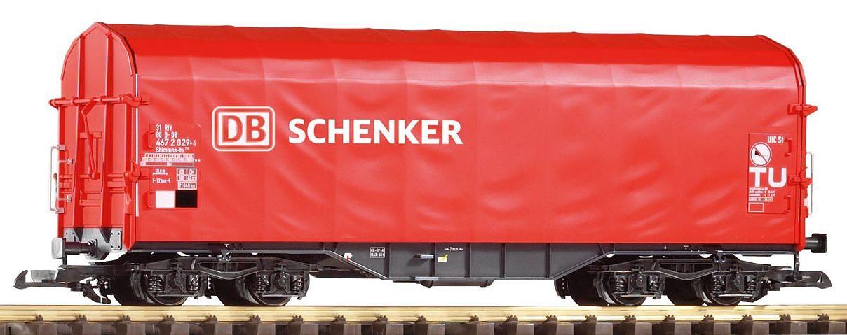 PIKO Güterwagen, Spur G, »Schiebeplanenwagen Shimmns, DB-Schenker - Gleichstrom«