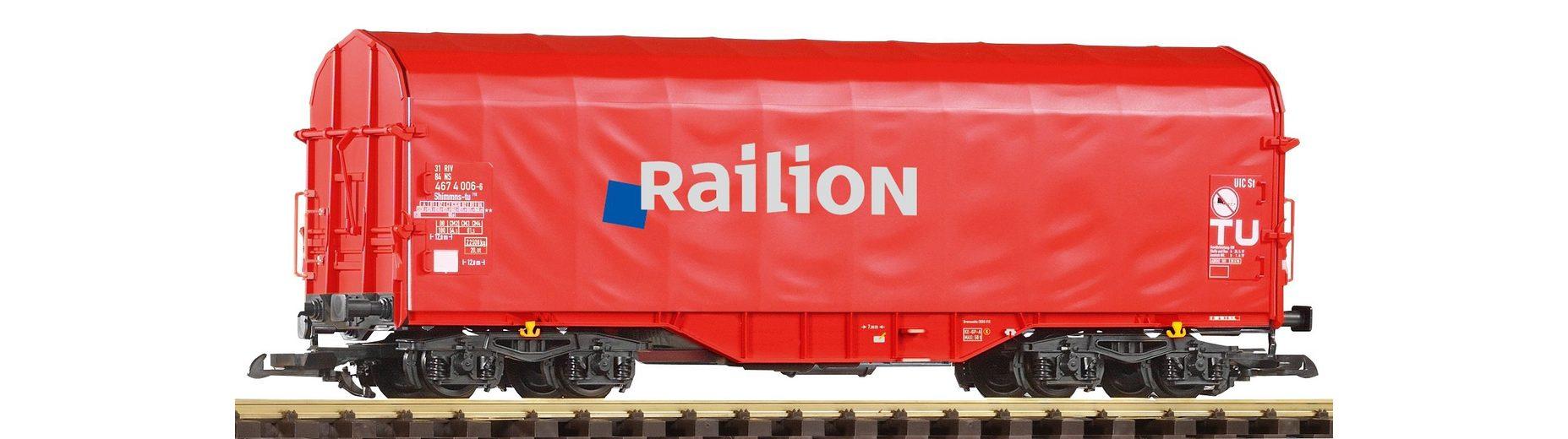 PIKO Güterwagen, »Schiebeplanwagen Shimmns Railion - Gleichstrom«, Spur G