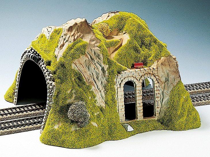 noch modelleisenbahn zubeh r spur h0 tunnel 2 gleisig. Black Bedroom Furniture Sets. Home Design Ideas