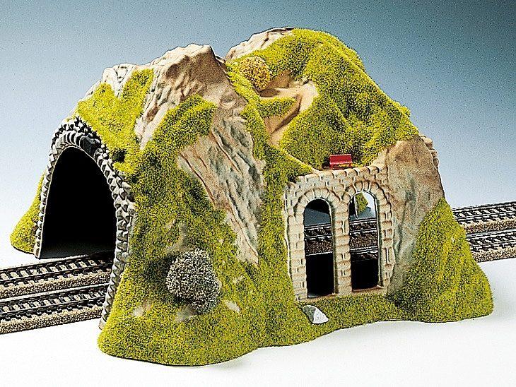 NOCH Modelleisenbahn Zubehör, Spur H0, »Tunnel 2-gleisig, gerade«