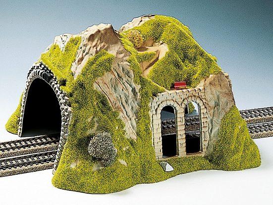 NOCH Modelleisenbahn-Tunnel »Tunnel 2-gleisig, gerade«, Spur H0, Made in Germany