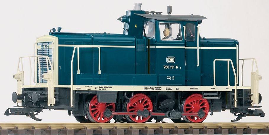 PIKO Diesellokomotive, Spur G, »Diesellok, BR 260, DB - Gleichstrom« in blau