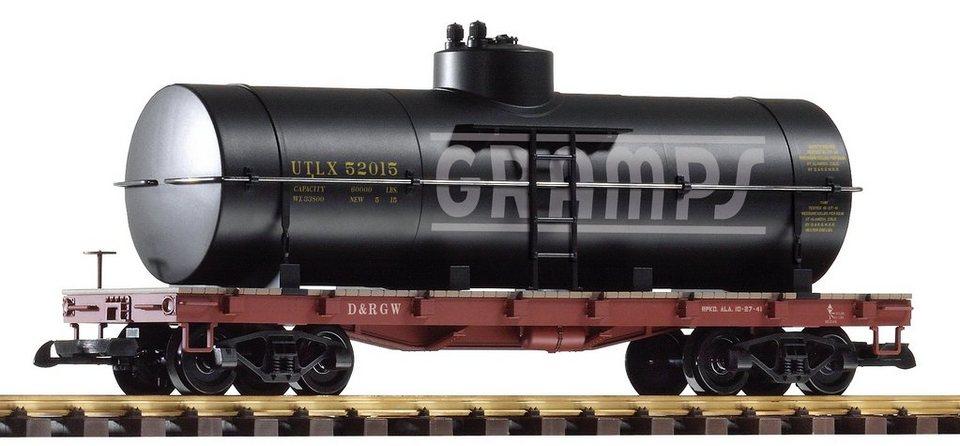 PIKO Güterwagen, Spur G, »Kesselwagen, D&RGW - Gleichstrom« in schwarz