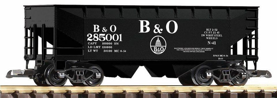 PIKO Güterwagen, Spur G, »Schüttgutwagen, B&O - Gleichstrom« in schwarz
