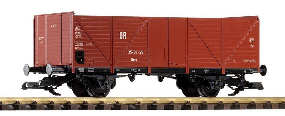 PIKO Güterwagen, Spur G, »Offener Güterwagen, DR - Gleichstrom« in rot