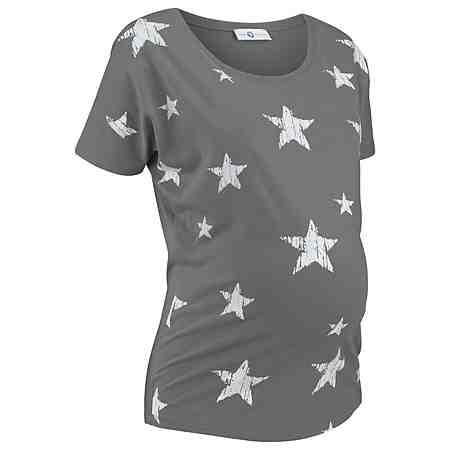 Neun Monate Umstandsshirt mit Sternendruck