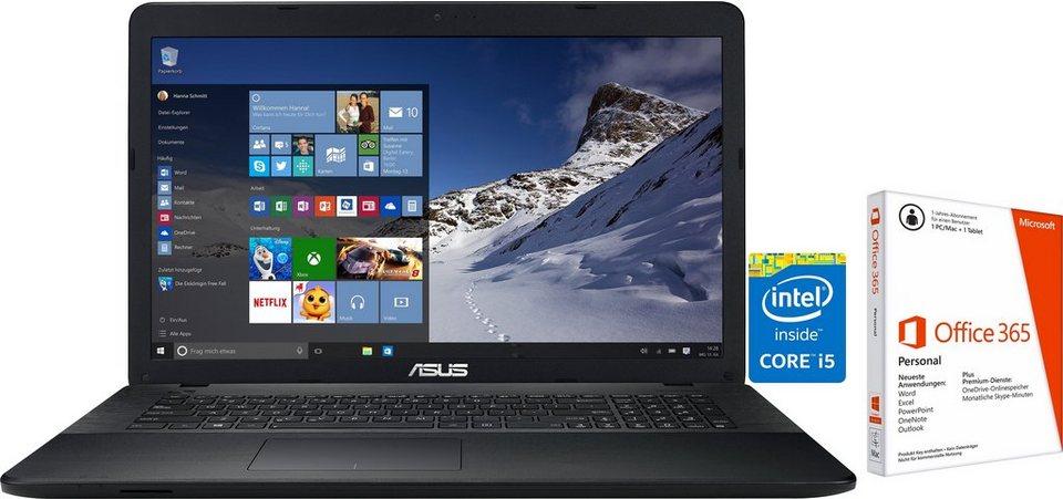 Asus K751LJ-TY31 Notebook, Intel® Core™ i5, 43,9 cm (17,3 Zoll), 1000 GB Speicher, 4096 MB DDR3-RAM in schwarz