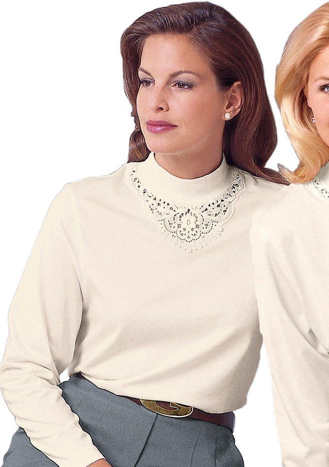 Classic Basics Shirt aus hautsympathischer reiner Baumwolle in wollweiß
