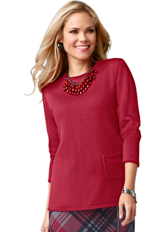 Classic Basics Pullover in Feinstrick-Qualität in rot
