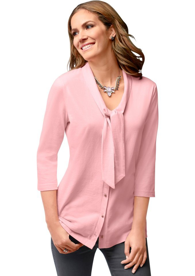 Classic Basics Shirtbluse mit 3/4-Ärmel in rosé