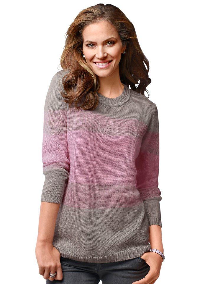 Classic Basics Pullover in trageangenehmer Feinstrick-Qualität in rosé-grau