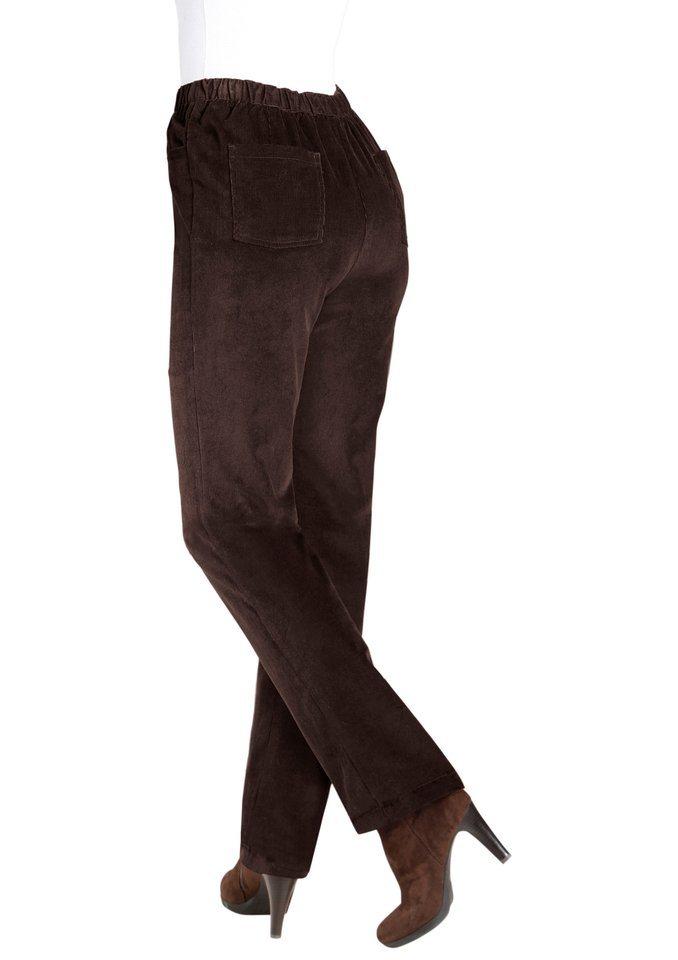 Classic Basics Cord-Hose mit fester Bundpatte vorne für eine flache Bauchpartie in braun