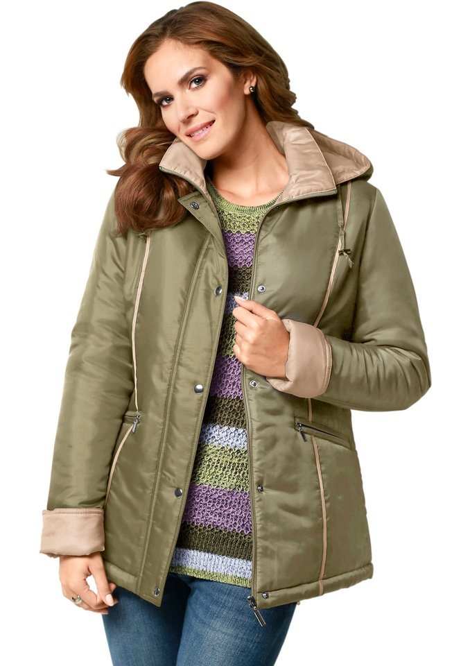 Classic Basics Jacke in figurumschmeichelnder Form in oliv