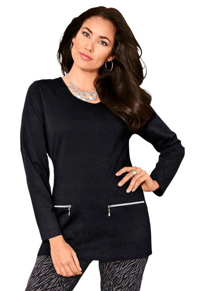 Classic Basics Longshirt in hautfreundlicher Qualität in schwarz