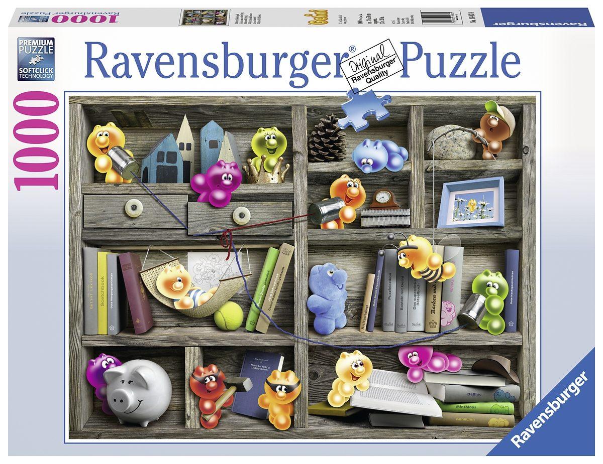 Ravensburger Puzzle,1000 Teile, »Gelini im Bücherregal«