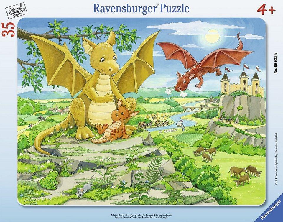 Ravensburger Rahmenpuzzle, 35 Teile, »Auf dem Drachenfels«