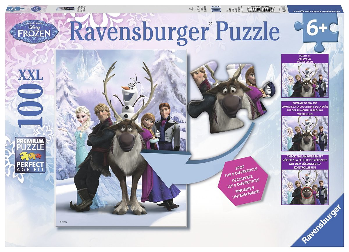 Ravensburger Puzzle mit Suchbildfunktion, 100 Teile, »Disney Frozen-The Frozen Difference«