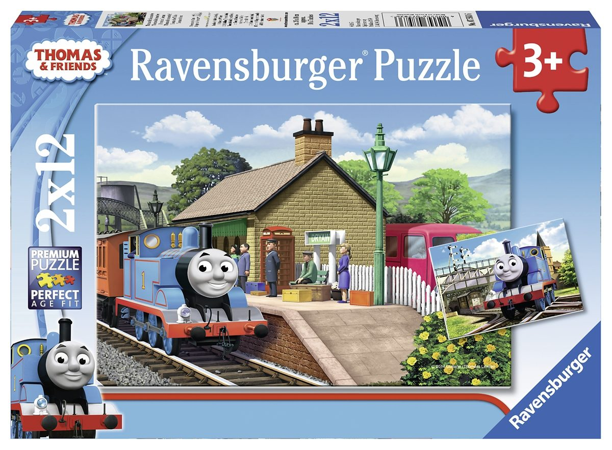 Ravensburger Puzzle, 2x12 Teile, »Thomas die Lokomotive«