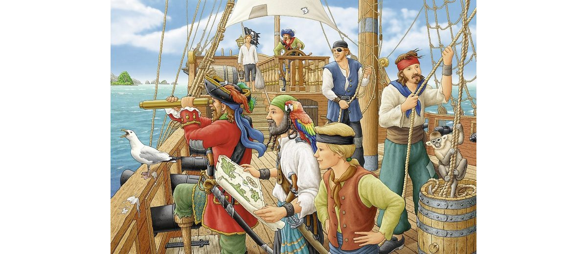 Ravensburger Puzzle, 2x24 Teile, »Bei den Piraten«