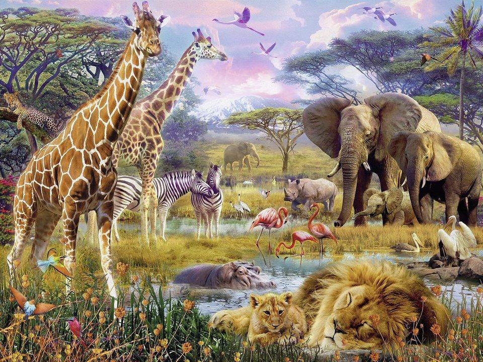 Ravensburger Puzzle, 1500 Teile, »Buntes Afrika«