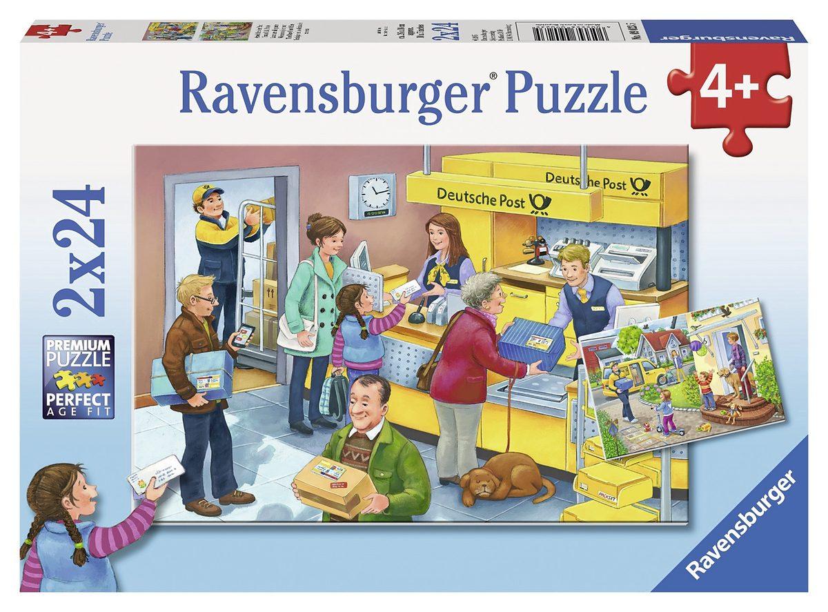 Ravensburger Puzzle, 2x24 Teile, »Arbeit bei der Post«