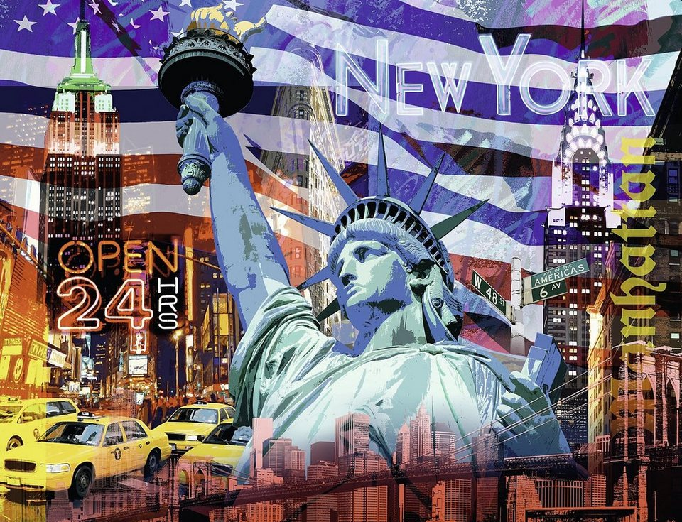 ravensburger puzzle 2000 teile new york collage online kaufen otto. Black Bedroom Furniture Sets. Home Design Ideas