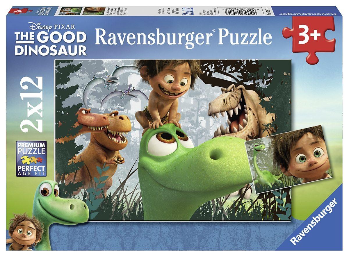 Ravensburger Puzzle, 2x12 Teile, »Animationsfilm Good Dinosaur«