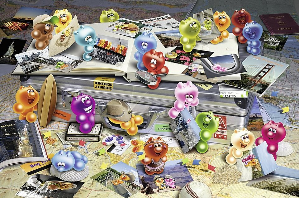 Ravensburger Puzzle, 3000 Teile, »Gelini auf Reisen«