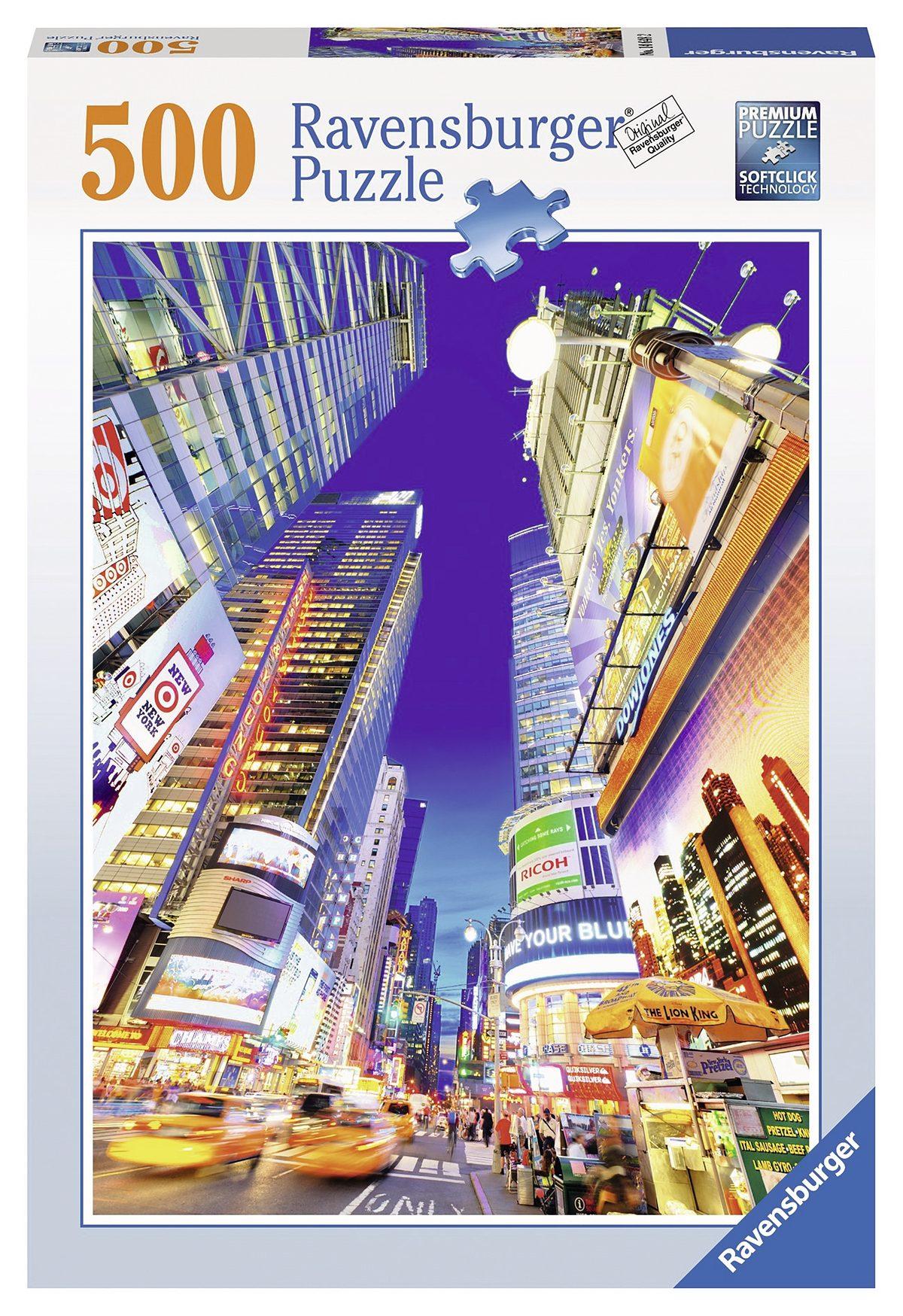 Ravensburger Puzzle, 500 Teile, »Leuchtender Times Square«