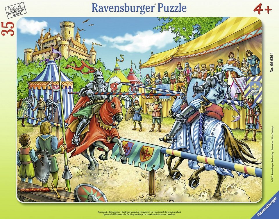 Ravensburger Rahmenpuzzle, 35 Teile, »Spannendes Ritterturnier«