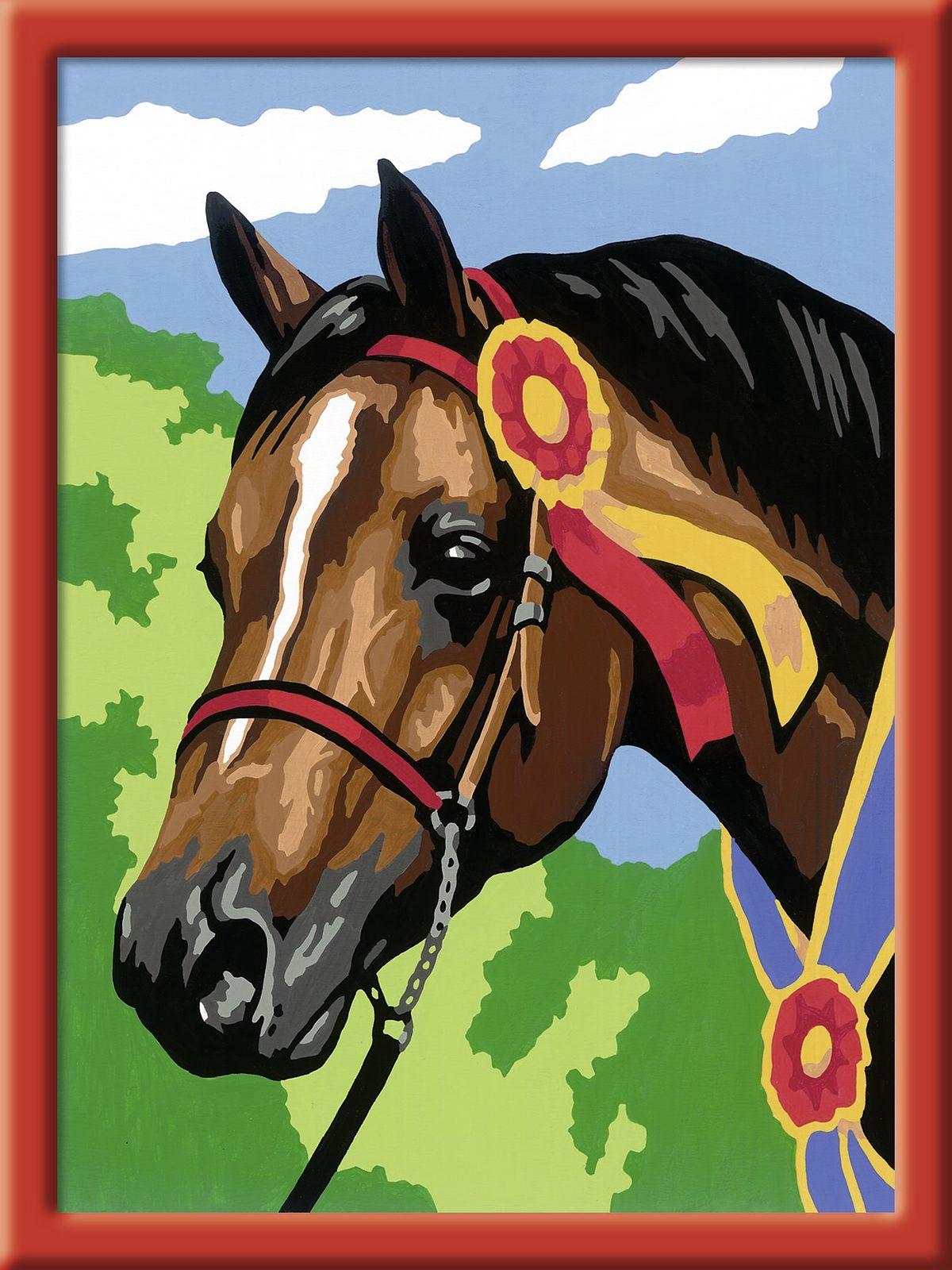 Ravensburger Malen nach Zahlen, »Pferd beim Reitturnier«