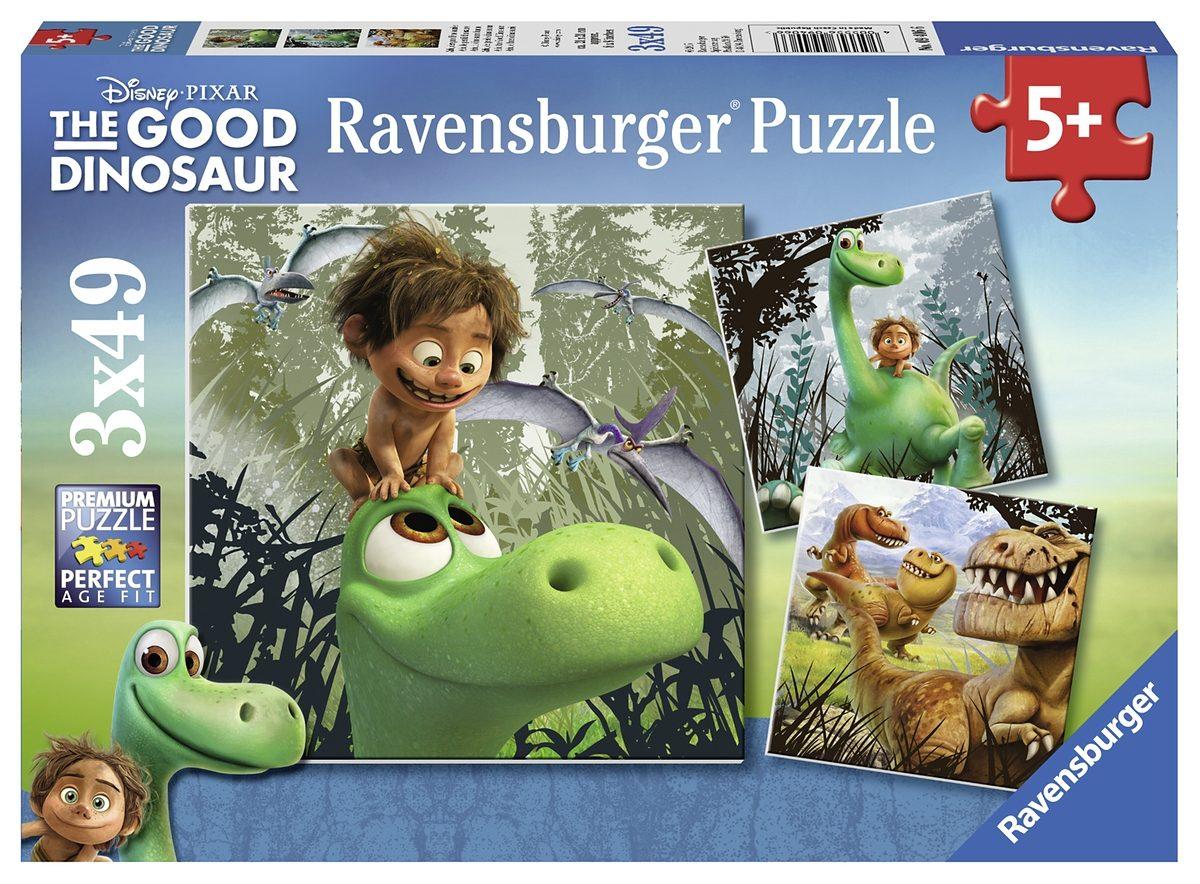 Ravensburger Puzzle, 3x49 Teile, »Disney-The Good Dinosaur«
