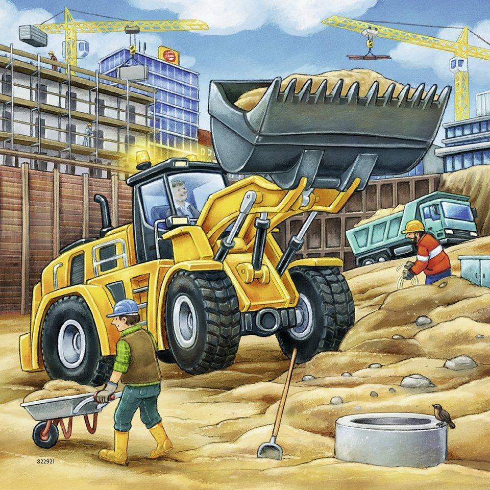 Ravensburger Puzzle-Set, 3x49 Teile, »Baustelle«