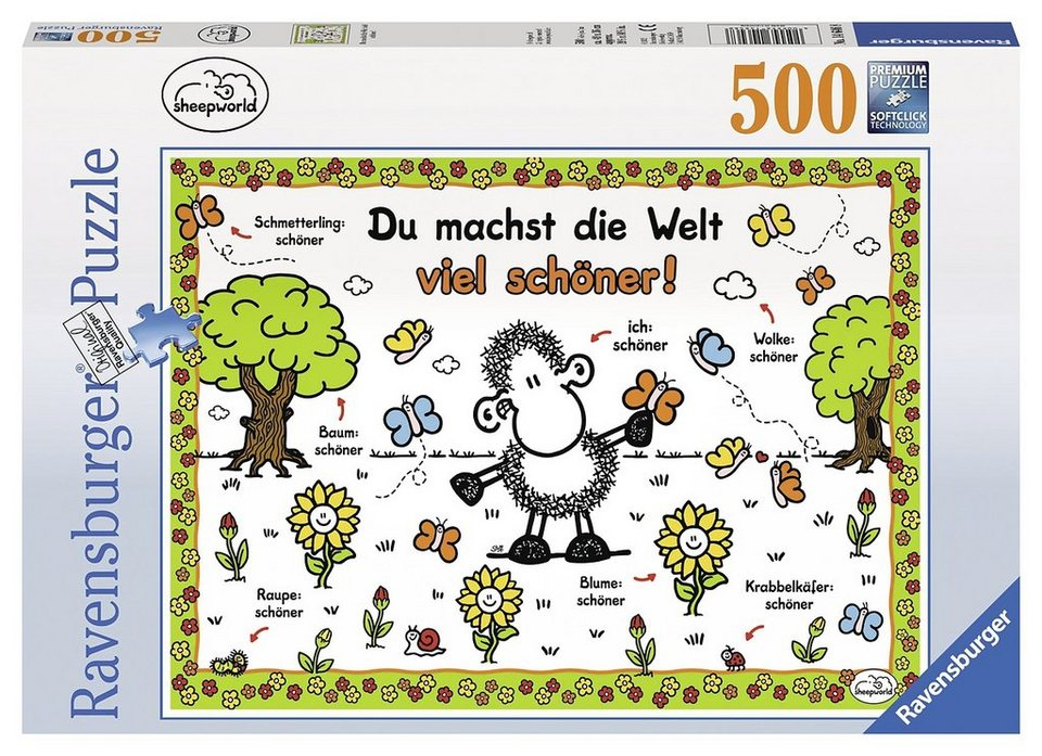 Ravensburger Puzzle, 500 Teile, »Sheepworld - Du machst die Welt viel schöner«