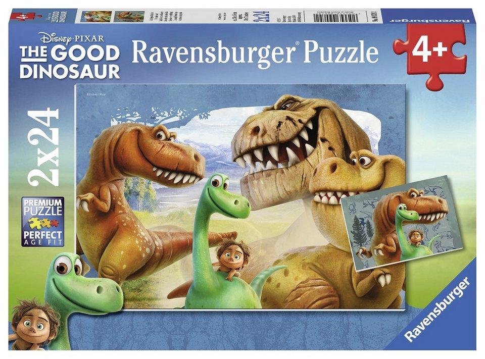 Ravensburger Puzzle, 2x24 Teile, »Disney-The good Dinosaur«