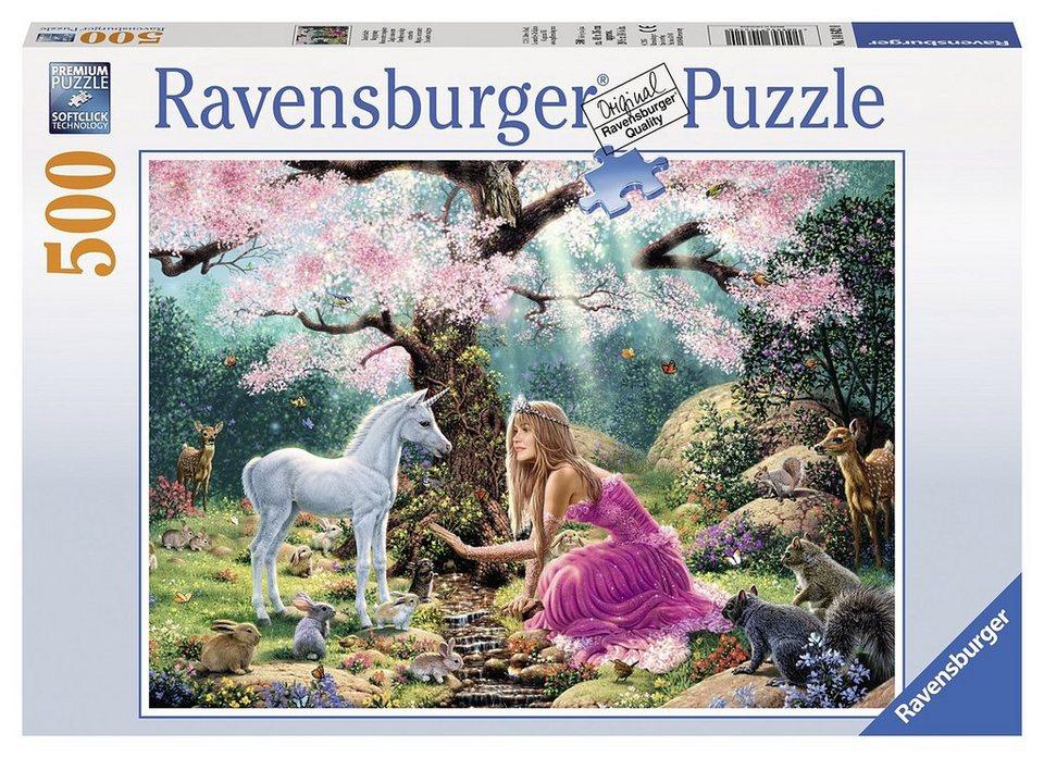 Ravensburger Puzzle, 500 Teile, »Zauberhafte Begegnung«