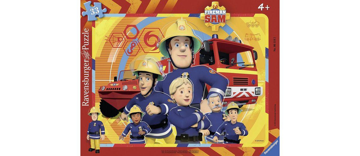 Ravensburger Rahmenpuzzle, 33 Teile, »Sam der Feuerwehrmann«
