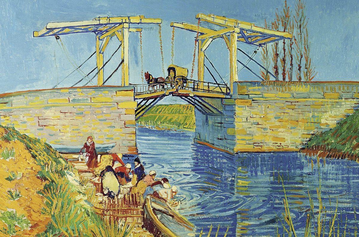 Ravensburger Puzzle, 3000 Teile, »Van Gogh-Brücke von Langlois«