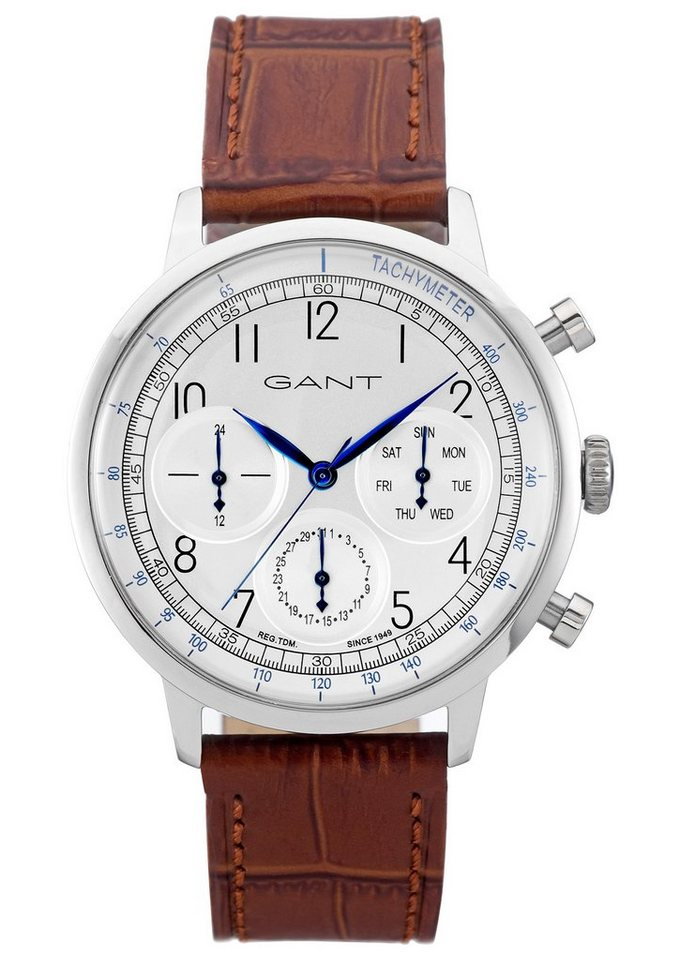 GANT Multifunktionsuhr, »Calverton, W71202« in braun