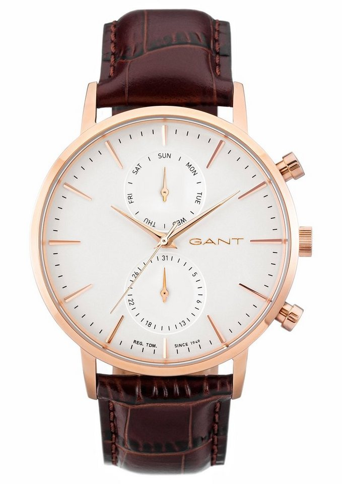 Gant Multifunktionsuhr »PARK HILL DAY-DATE, W11203« in rotbraun