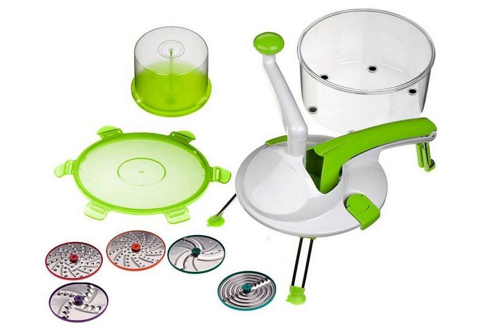 Genius® Küchenmaschine, 9-teilig, »Roto Champ« in grün/weiß/transparent