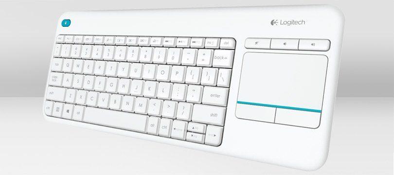 Logitech Tastatur »Wireless Touch Keyboard K400 Plus white«