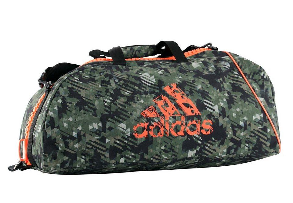 adidas Performance Sporttasche, »Combat Camo Bag« in grün-orange